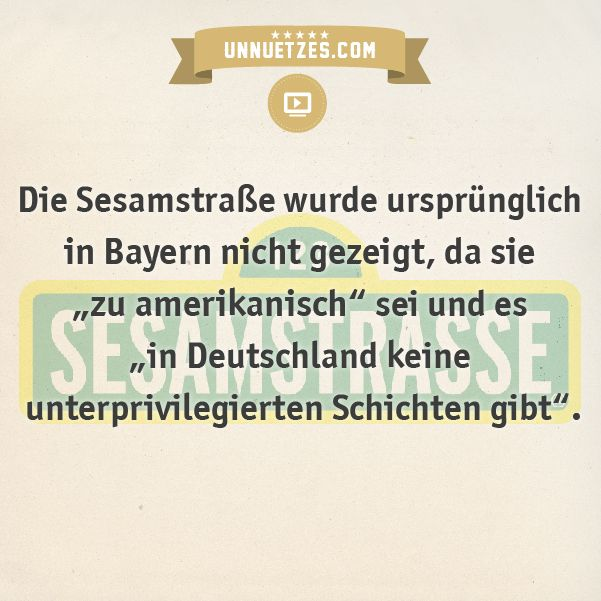 Sesamstraße-Verbot