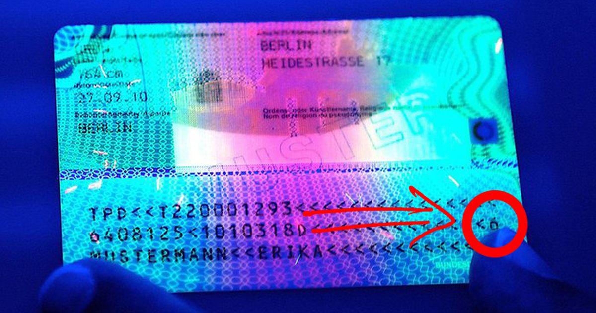 wo steht die prüfziffer beim personalausweis?