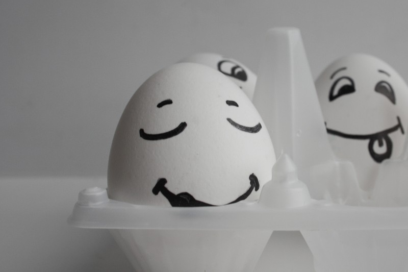 Schlaues Versteck: Im Eierkarton lässt sich so manche Kleinigkeit verbergen