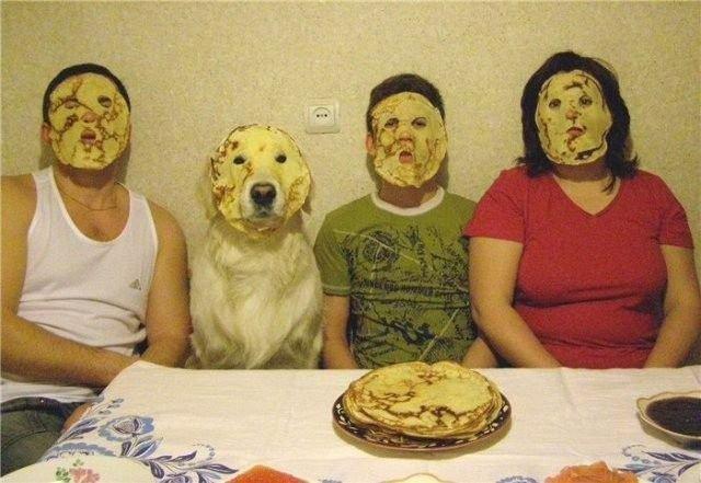 Wer mag keine Pfannkuchen-Gesichter?