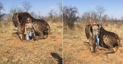 Amerikanerin tötet Giraffe und postet das stolz
