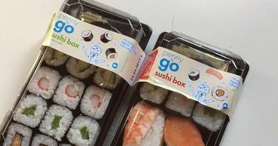 Achtung: Hartplastik in Sushi von Penny und Aldi