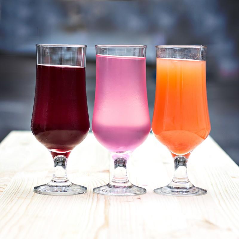 Drei Gläser Limonade