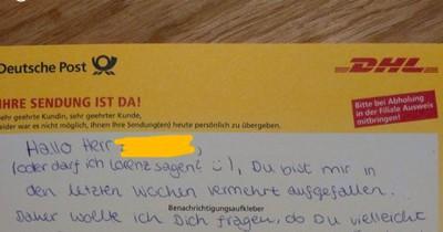 DHL-Zustellerin fragt nach Date – und das Netz dreht durch
