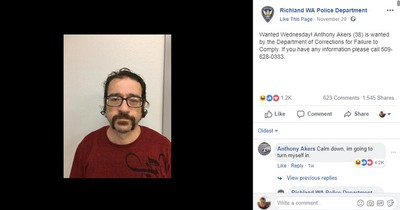 Polizei sucht nach einem Mann - Dieser kommentiert