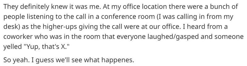 Heute habe ich mich in einer Telefonkonferenz total blamiert