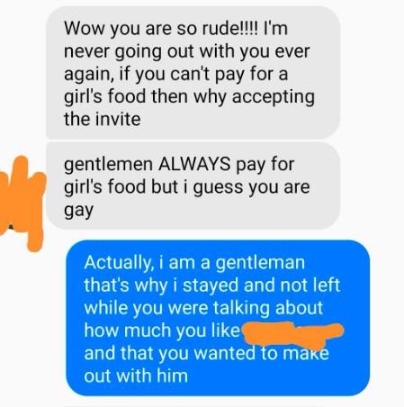 80 EUR zu viel: Student weigert sich das Essen seines Dates zu zahlen