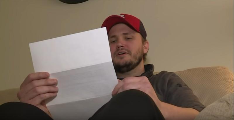 Matt erhielt beim Verkauf einen Brief.