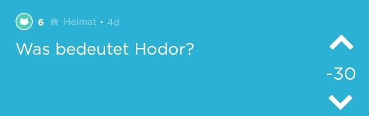 Hodor Erklärung