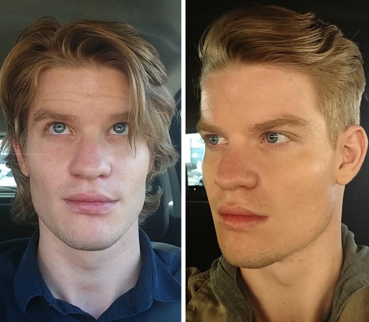 20 Männer zeigen, wie sehr ein Haarschnitt sie verändert hat