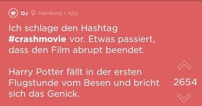 #crashmovie: Wenn das in Filmen passieren würde, wären die Filme sofort vorbei