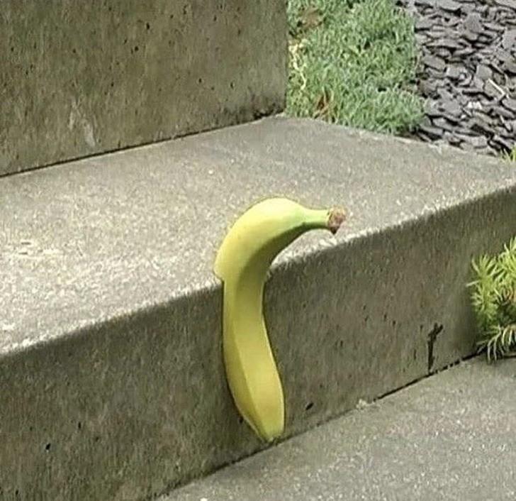 Was ist mit der Banane los? Das sieht wirklich schräg aus!