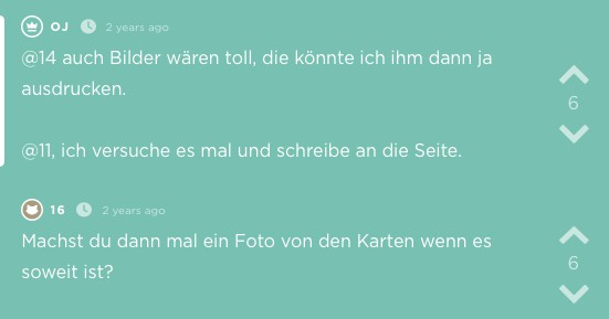 Screenshot von Jodel
