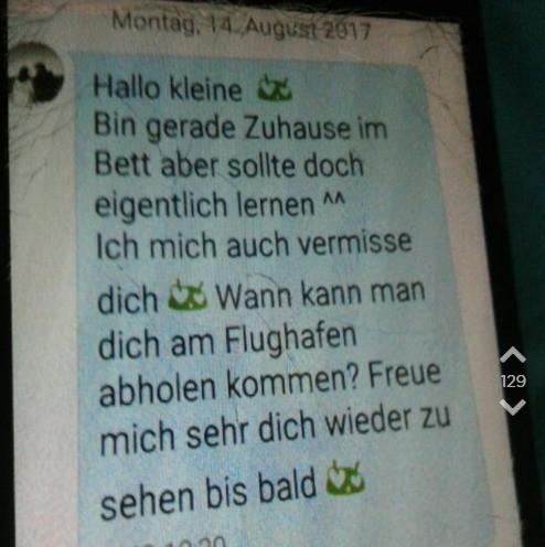 OJ teilt die SMS von ihrem Freund.