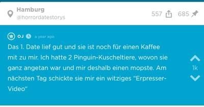 Er hatte zwei Kuscheltier-Pinguine - dann bekommt OJ ein Video von seinem Date