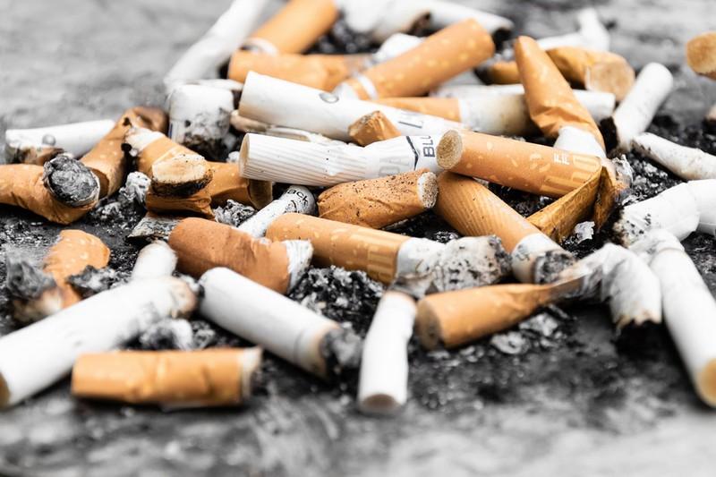 Dieses Bild zeigt achtlos weggeworfene Zigarettenkippen.