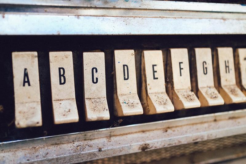 Dieses Bild zeigt das Alphabet in der richtigen Reihenfolge.