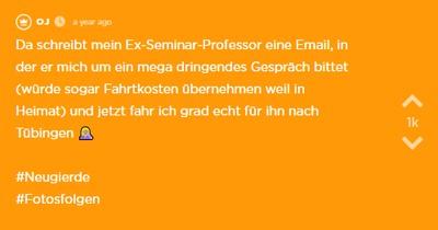 Ihr Ex-Professor schreibt ihr eine Email und will sie treffen - doch was er ihr sagt, ändert alles