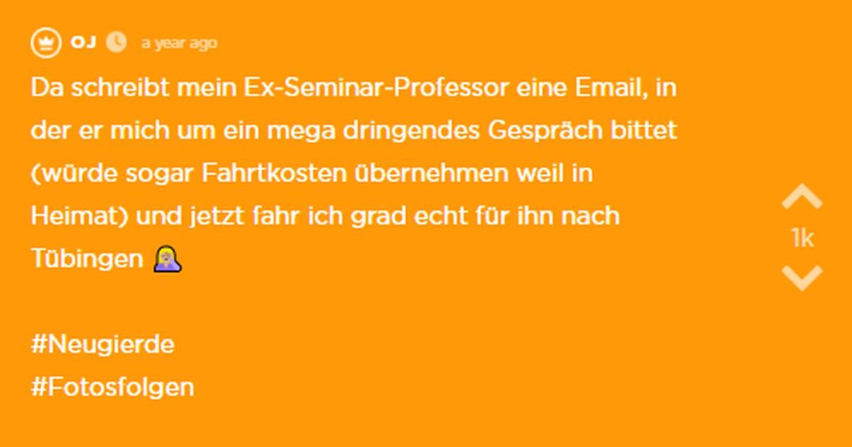 Ihr Ex-Professor schreibt ihr eine Email und will sie treffen - war alles nur Fake?