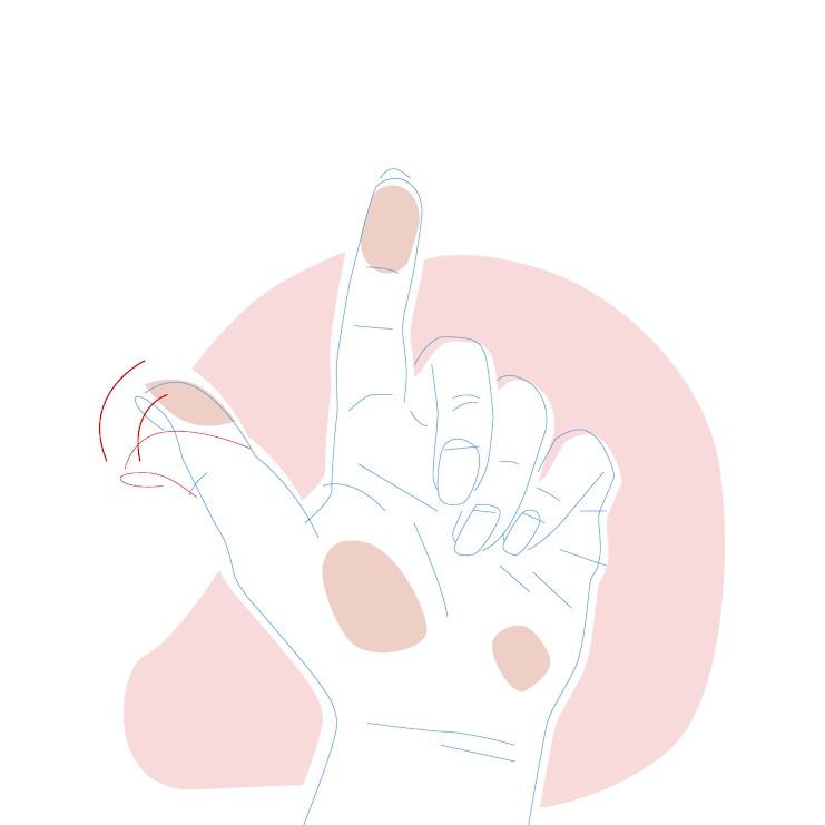 Dieses Bild zeigt eine Hand mit flexiblem Daumen.