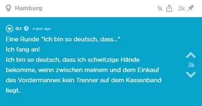 """Jodel Challenge: """"Ich bin so deutsch..."""""""