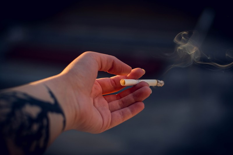 Dieses Bild zeigt einen Raucher.