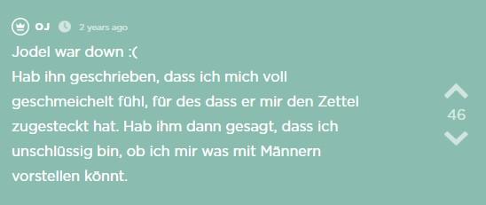 Der fünfte Jodel des Jodel Beitrags.