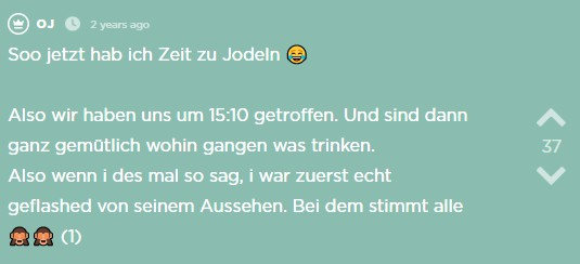 Der sechste Jodel des Jodel Beitrags.