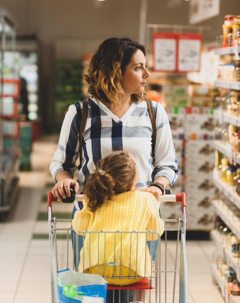 Kinder müssen früh lernen, Grenzen zu setzen. Im Supermarkt umso wichtiger!