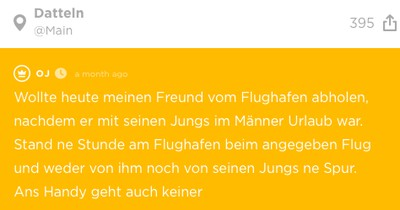 Nach Männerurlaub: Jodlerin will Freund vom Flughafen abholen – doch der taucht nicht auf
