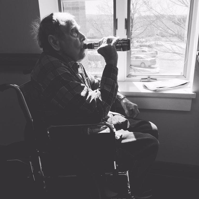 Das letzte Foto eines alten Mannes