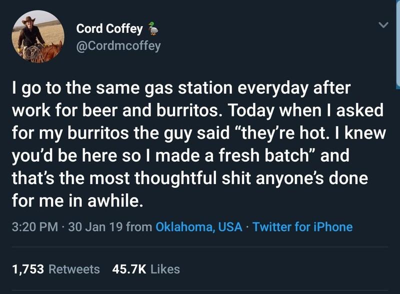Tweet einer guten Tat