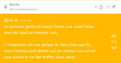 Jodlerin berichtet von ihren Jodel und Tinder Dates, um allen ihren Spaß zu gönnen