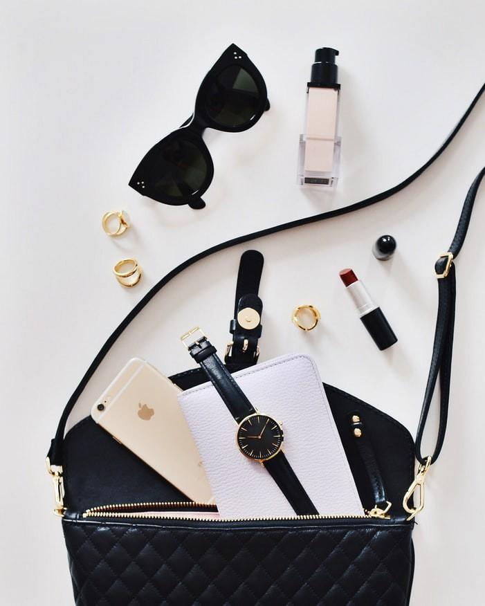Handtasche und anderer Krams