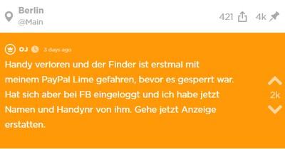Handy von Jodler wurde geklaut, doch er findet den Dieb, weil er sich auf FB eingeloggt hat