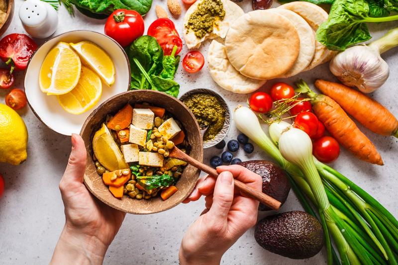 Gesundes indisches Essen