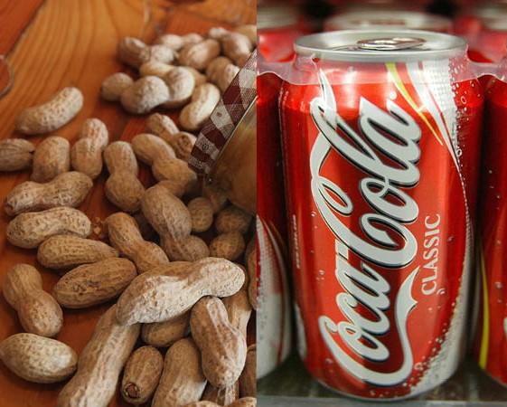 Cola und Erdnüsse