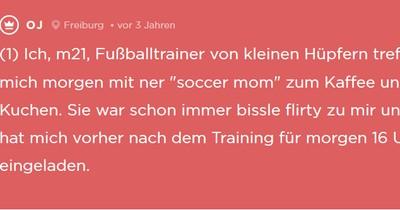 """Jodler trifft sich mit """"Soccer-Mom"""" zum Kaffee"""
