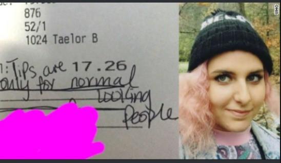 Eine Kellnerin wegen ihres Aussehens zu diskriminieren ist allerdings noch dreister