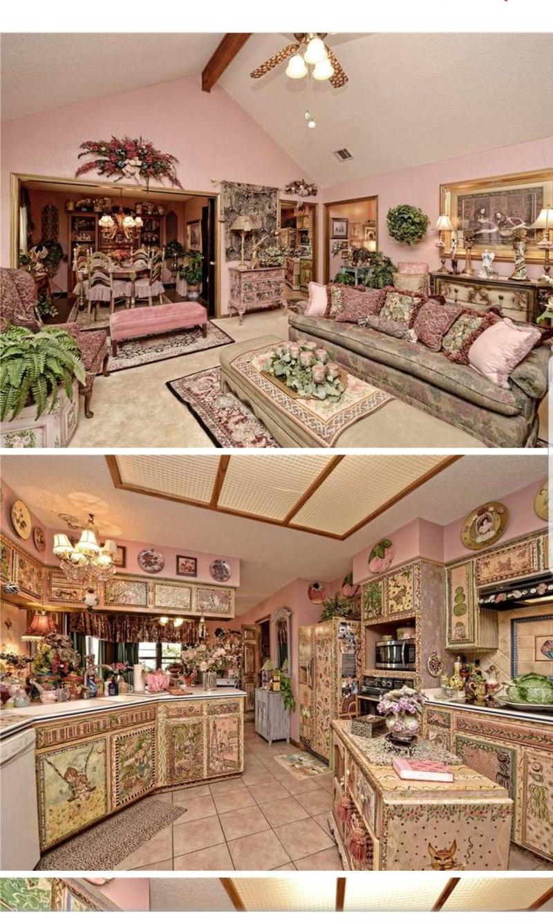 Maklerfotos von einem extrem dekorierten Haus