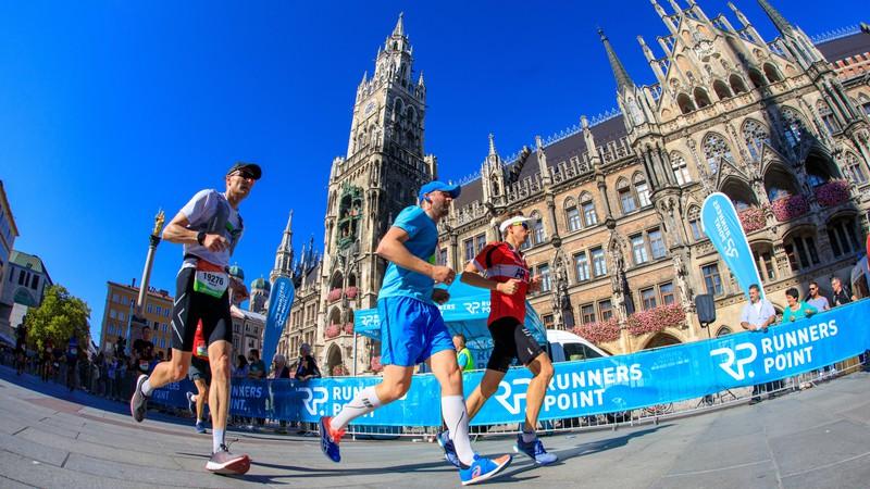 In München liefen Teilnehmer den Marathon