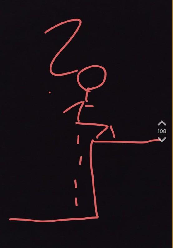 Jodler macht eine Zeichnung von Frau die auf den Bahnsteig pinkelt.