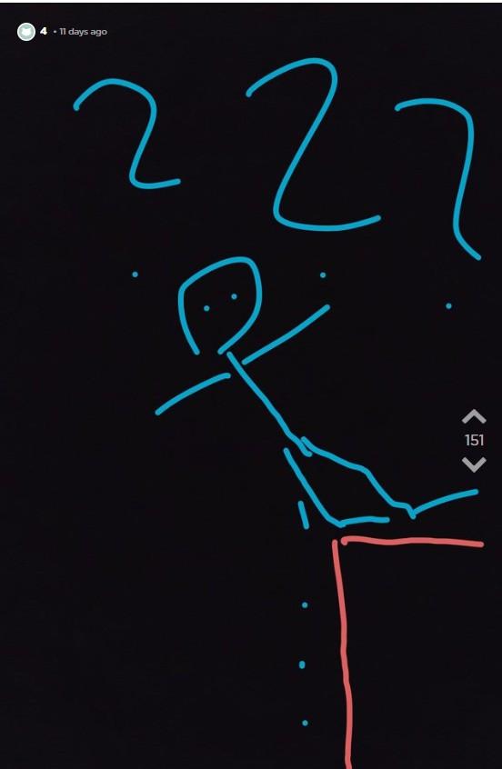Jodler zeichnet OJs Date wie sie beim Pinkeln auf die Gleise fällt.