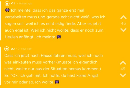 Dating-Jodel aus der App