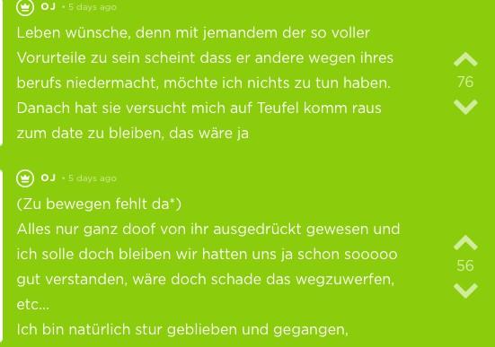 Ein Jodel-User schreibt über sein negatives Date