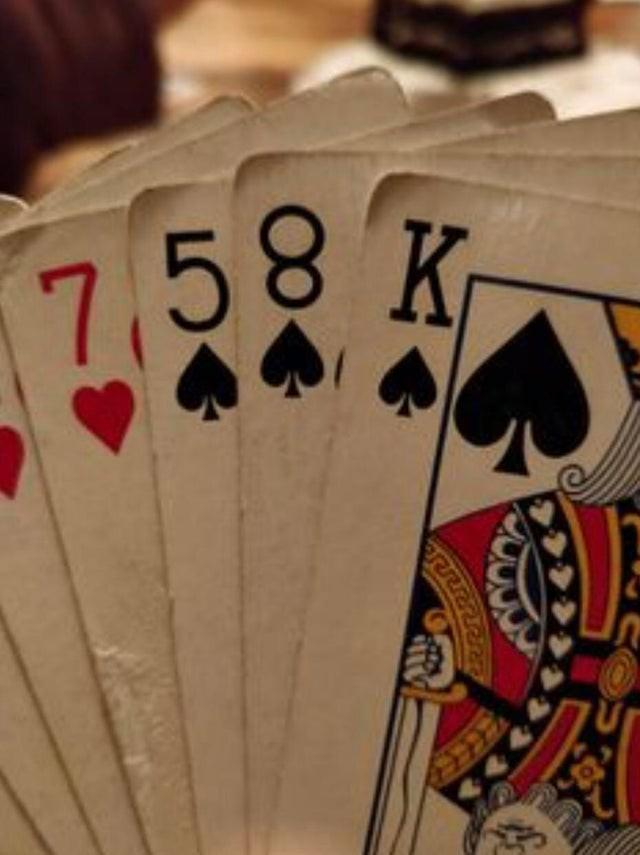 Die 8 auf diesem Kartenspiel ist ganz eindeutig falsch herum.