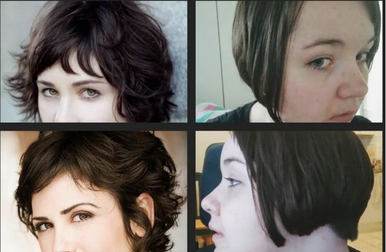 Eine  Frau, die den Bob links wollte, doch den Haarschnitt bekam
