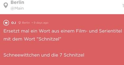 """Jodler ersetzen ein Wort in einem Filmtitel mit """"Schnitzel"""" - und erhalten die genialsten Ergebnisse"""