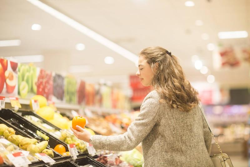 Ein Supermarkt Fehler ist sogar tagsüber einkaufen zu gehen