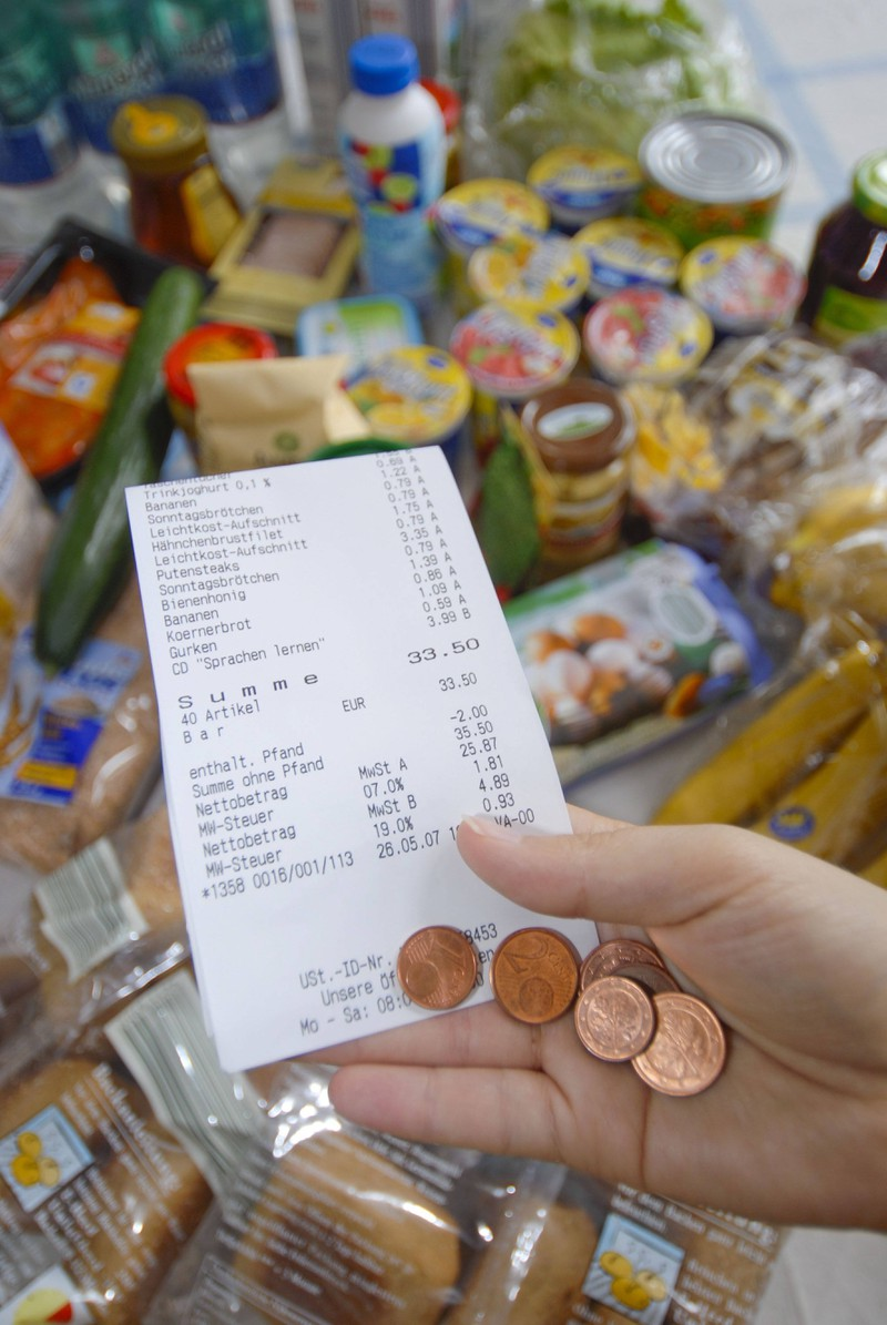 Man sollte nach jedem Einkauf den Zettel nach Fehlern durchsuchen im Supermarkt